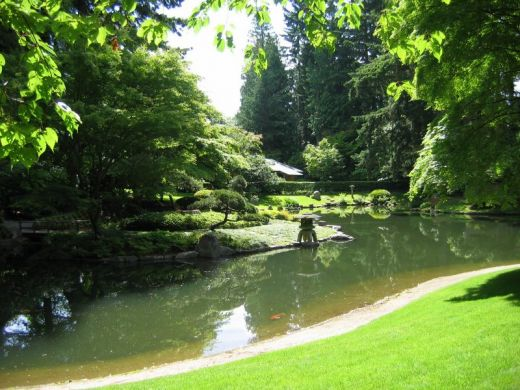 Bassin du jardin nitobe garden universit de la colombie for Bassin artificiel jardin
